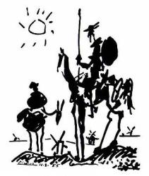 Don Quixote by Picasso, 1955