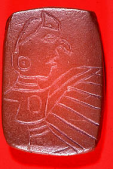 Sandstone birdman plaque from Cahokia site